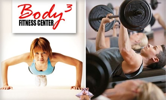 Body3 Fitness Center - Lazy Brook/ Timbergrove: $30 for Nine Boot Camp Sessions, Gym Access, and Body Fat Analysis During One Month at Body3 Fitness Center ($205 Value)
