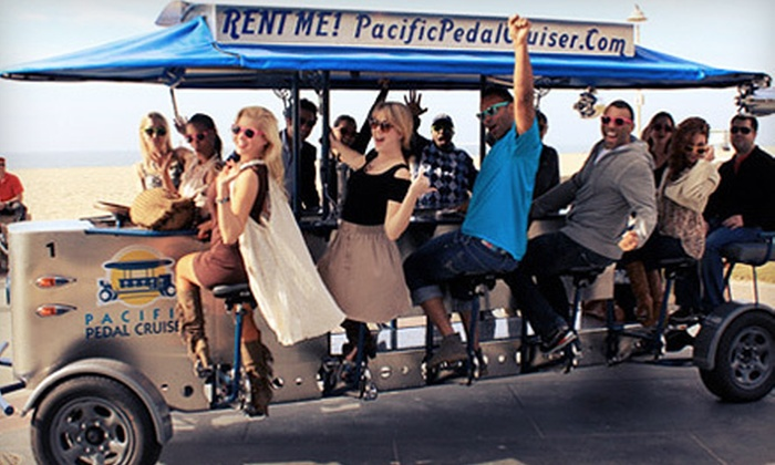 Pacific Pedal Cruiser - Hill Section: Party-Bike Bar Crawl for 2, 4, or Up to 14 from Pacific Pedal Cruiser in Hermosa Beach (Up to 54% Off)
