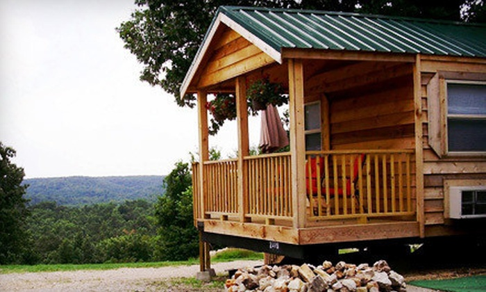Fishing Tales RV Park - Bennett Springs: Cabin or Campsite Rental at Fishing Tales RV Park in Lebanon (Up to 53% Off). Three Options Available.