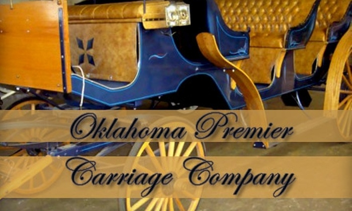 Oklahoma Premier Carriage Company - Downtown Oklahoma City: $15 for a Two-Person Horse-Drawn-Carriage Ride from Oklahoma Premier Carriage Company ($30 Value)