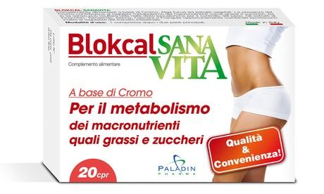 Fino a 6 mesi (180 compresse) di Blokcal Sanavita per regolare il metabolismo di grassi e zuccheri