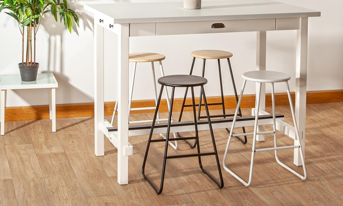 Harbour Housewares Wooden Bar Stool In Choice Of Colour