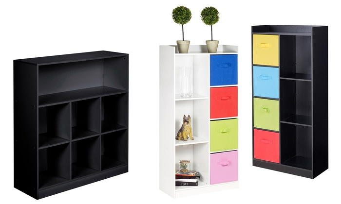 Tall or Wide Cube Bookcase with Optional Multicolour Drawers