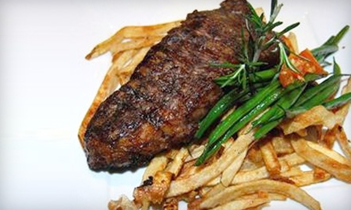 Sansaveria Seafood & Steakhouse - Chicago: $20 for $40 Worth of European-Inspired Fare at Sansaveria Seafood & Steakhouse in Bartlett