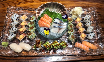 Bento Box with Miso and Dessert or Sushi Platter with Edamame or Sake for Two or Four at Kouzu (Up to 40% Off*) (London)