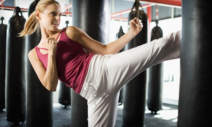 Champions Kickboxing - Multiple Locations: 10 or 20 Adult or Youth Cardio-Kickboxing, Zumba, or Kickboxing Classes (Up to 77% Off) at Champions Kickbxing