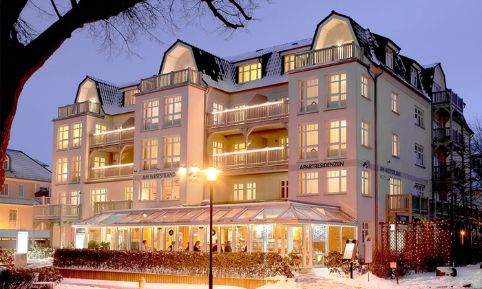 Aparthotel Am Weststrand - Kühlungsborn: Kühlungsborn: 3-6 Tage direkt am Meer inkl. Frühstück, 1x Flasche Sekt und Wellness im Aparthotel Am Weststrand