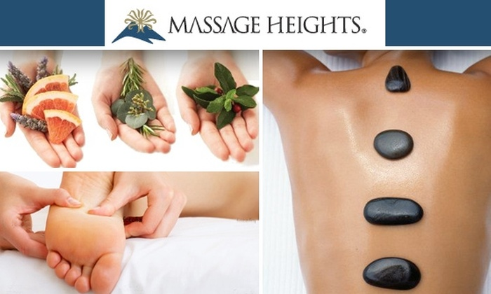 Massage Heights - Multiple Locations: $50 for a One-Hour Hot-Stone Massage and Foot Scrub at Massage Heights ($72 Value)