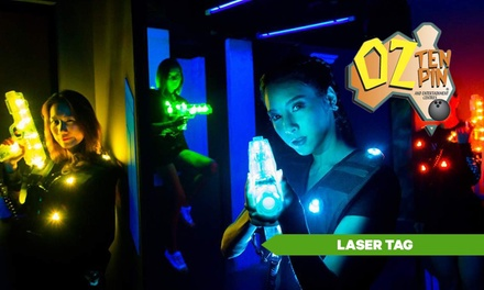 $8.50 for Two Games of Laser Tag at OZ Tenpin Bowling, Two Locations Up to $18 Value