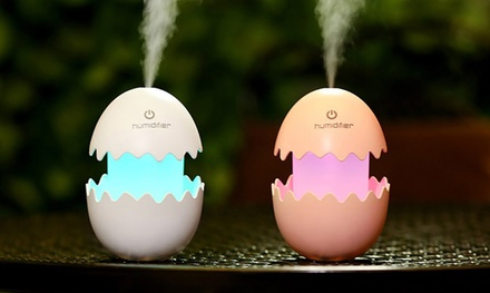 One or Two Cute Egg Shaped LED Humidifiers