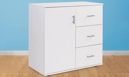 commode avec trois tiroirs groupon. Black Bedroom Furniture Sets. Home Design Ideas
