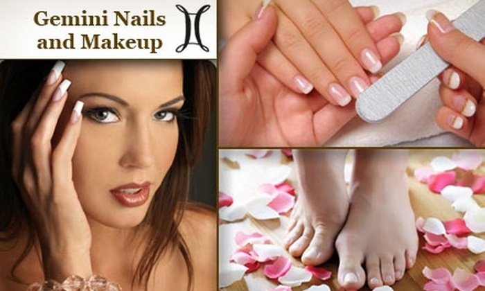 Gemini Nails and Makeup - Northwest Austin: $45 for Aromatherapy Mani-Pedi at Gemini Nails and Makeup