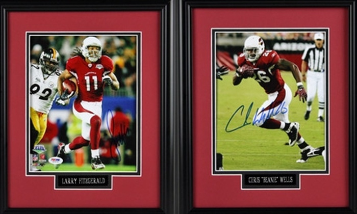 "Bell Sports Marketing - North Scottsdale: Autographed and Framed 8""x10"" Photograph of Larry Fitzgerald or Beanie Wells from Bell Sports Marketing (Up to $360.93 Value)"