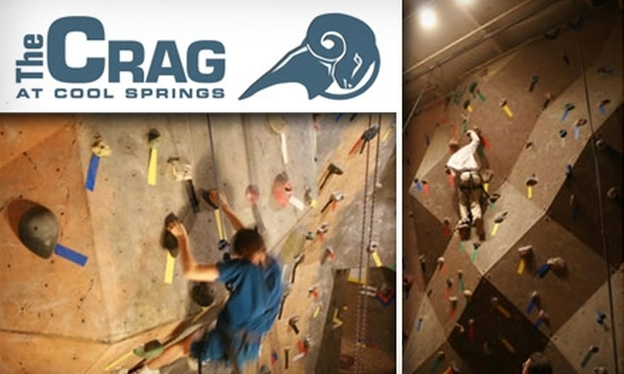 The Crag - Franklin: $15 for a Rock-Climbing Lesson, Rental Gear, and Two-Day Pass at The Crag at Cool Springs