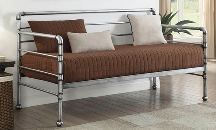 Industrial ScaffoldBanburyPipe-Style Metal Bed with the Option to Include Mattress With Free Delivery