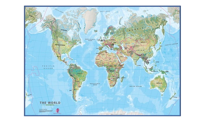 Educational day and night motion world map groupon goods educational day and night motion world map gumiabroncs Images