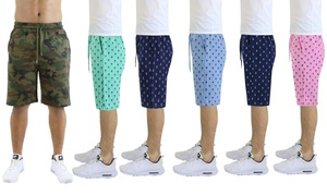 Men's Fashion Printed French Terry Shorts