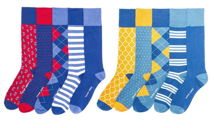 Up To 28% Off on Men's Dress Socks (5 Pairs) | Groupon Goods
