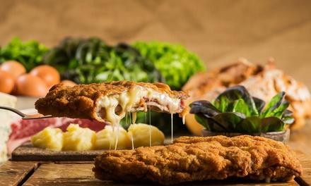 Menú asturiano para 2 o 4 con entrante, cachopo, postre y agua o sidra para dos desde 29,95 € en La Cuchara del Norte
