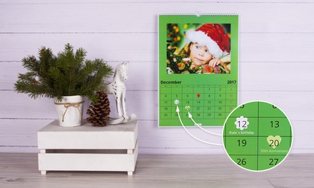 Up to Five Personalised A3 Photo Calendars from Colorland (Up to 83% Off)