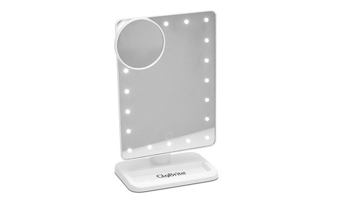 Spiegel Make Up : Touch screen led make up spiegel groupon