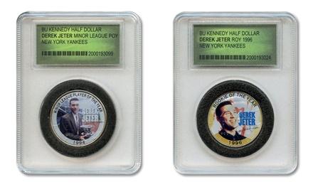 Derek Jeter Commemorative Colorized JFK Half-Dollar Coins