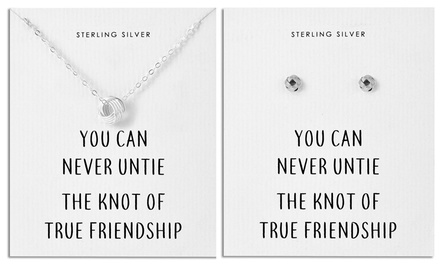 Philip Jones Sterling Silver Quote Earrings, Necklace or Set