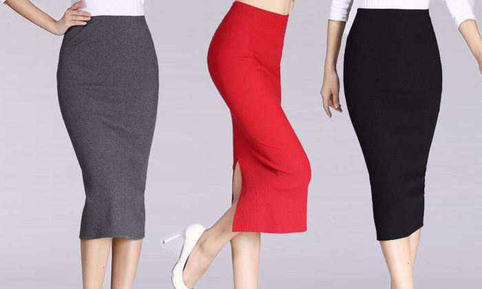 My Shop Your Shop: High-Waisted Stretch Pencil Skirt: One ($15) or Two ($19) (Don't Pay up to $85.90)
