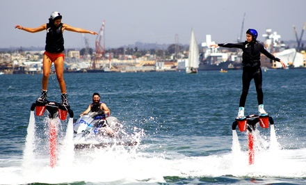 Up to 58% Off Flyboard or Hoverboard Lesson at Aquatic Aviation