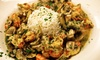 $45 Value Worth of Cajun Cuisine for Two or More