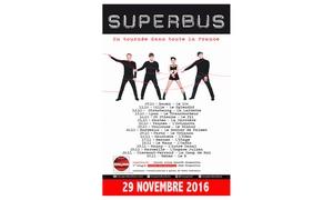 DH Management: 2 places pour le concert de SUPERBUS à 32 € le mardi 29 novembre 20116 à 20h