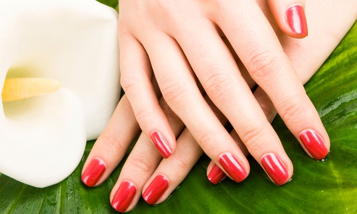 Drew James Aveda Salon Spa - Multiple Locations: One, Two, or Three Stress-Relieving Mani-Pedis at Drew James Aveda  Salon Spa (Up to 54% Off)