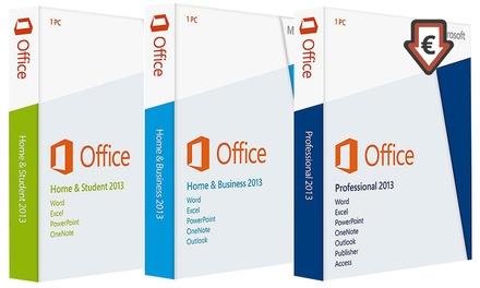 Microsoft Office 2013 in verschillende uitvoeringen