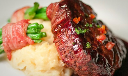Three-Course French-Fusion Dinner with Champagne for Two or Four at Bijou Restaurant & Bar (Up to 68% Off)