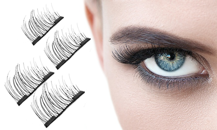 4, 8 or 12 Dual Magnetic 3D Double Eyelashes From £4.99