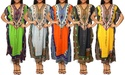 Women's Dashiki V-Shaped Neckline Loose fit Short Sleeves Dress