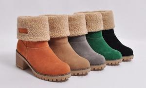 Boots fourrées à talons