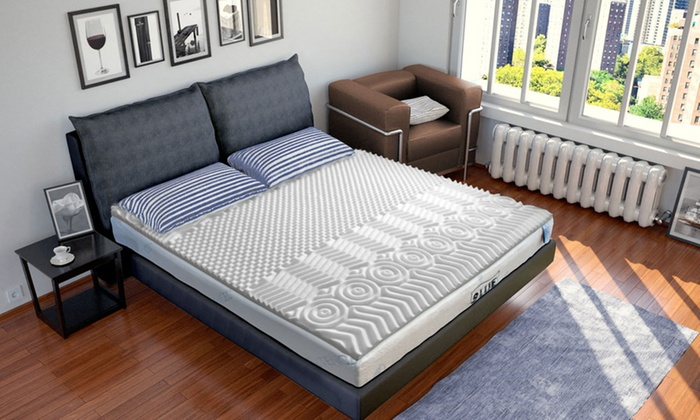 surmatelas 7 zones m moire de forme groupon. Black Bedroom Furniture Sets. Home Design Ideas
