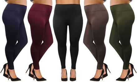 TwoPack of Plus Size Fleece Lined Leggings