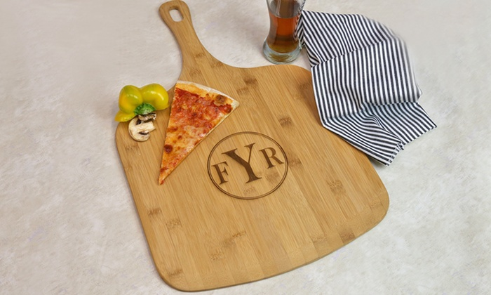 Monogram Online: $19.99 for a Personalized Bamboo Pizza Board from Monogram Online ($79.99 Value)