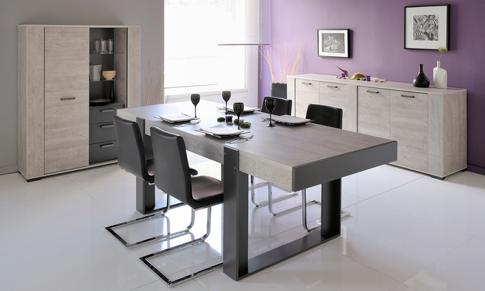 Table enfilade argentier parisot groupon shopping