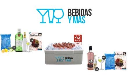 Pack fríos de cervezas o de gintonics con G´vine, Puerto de Indias o Tanqueray desde 17.95 € con Bebidas y Más