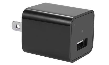 Zuzo 1080P HD Camera Adapter USB Wall Charger with Internal Memory