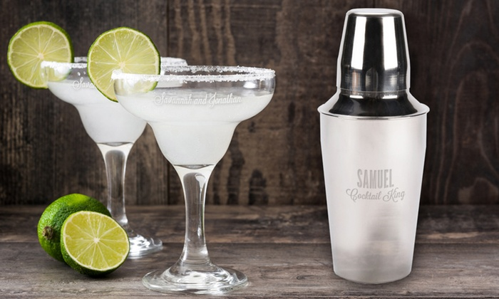 Personalized Cocktail Shakers or Margarita Glasses from Monogram Online (Up to 62% Off). 6 Options Available.