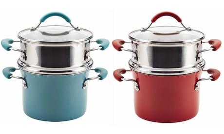 Rachael Ray Cucina Nonstick 3-Quart Covered Pot and Steamer be5339b2-ac63-11e6-b57b-00259060b5da