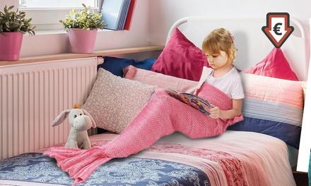1x 2x Meerjungfrau-Flossen-Decke für Kinder in der Farbe nach Wahl