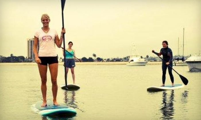 OEX Mission Bay - Mission Beach: $20 for a Yoga, Fitness, or Beginner Stand-Up-Paddle-Board Class at OEX Mission Bay ($45 Value)