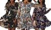 Robe légère avec motifs de fleurs, coloris et taille au choix