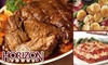 Horizon Foods: $49 for $100 of Portion-Controlled Meats and Dinner Entrees with Home Delivery from Horizon Foods