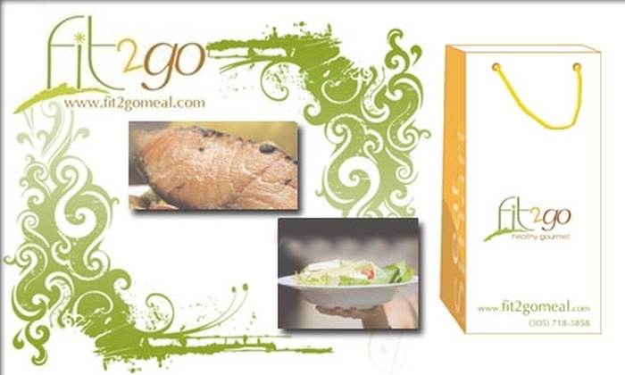 Fit2Go - Miami: $37 for Five Days of Lunches and Dinners Delivered and Prepared by Fit2Go ($75 Value)